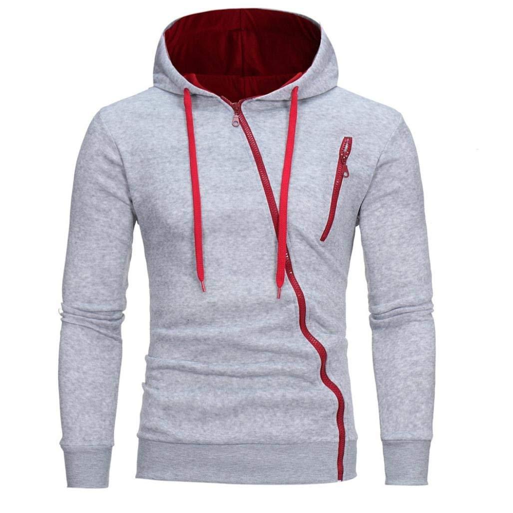 Yang Yi Mens Fashion Long Sleeve Hoodie Hooded Sweatshirt Tops